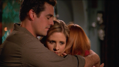 Buffy hugs